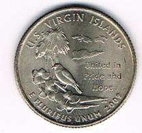 "¼ Dollar ""Washington Quarter"" U.S. Virgin Islands, 2009, UNC - 1999-2009: State Quarters"