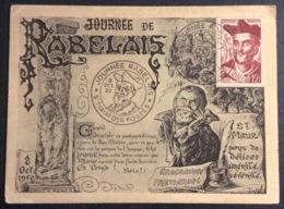 CM276-1 Journée Rabelais St Maur Des Fossés 8/10/1950 Carte Maximum 866 - Cartes-Maximum