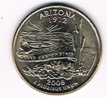 "¼ Dollar ""Washington Quarter"" Arizona, 2008, UNC - 1999-2009: State Quarters"