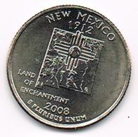 """¼ Dollar """"Washington Quarter"""" New Mexico, 2008, UNC - EDICIONES FEDERALES"""