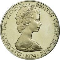 Monnaie, BRITISH VIRGIN ISLANDS, Elizabeth II, 25 Cents, 1974, Franklin Mint - Iles Vièrges Britanniques