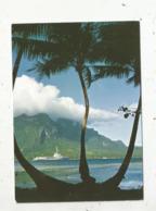 Cp,bateau De Guerre,porte Hélicoptères JEANNE D'ARC ,école Application Des Enseignes... ,Polynésie Française , Bora-Bora - Warships