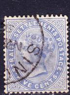 Malaiische Staaten I - Straits Settlements - Königin Viktoria. (MiNr: 37) 1883 - Gest Used Obl - Straits Settlements