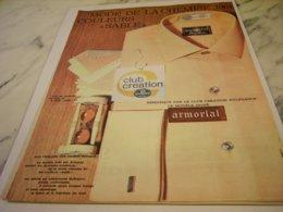 ANCIENNE PUBLICITE MODE DE LA CHEMISE  NYLFRANCE 1961 - Vintage Clothes & Linen