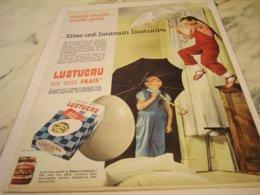 ANCIENNE PUBLICITE ELLE ONT L ENTRAIN  LUSTUCRU 1961 - Posters