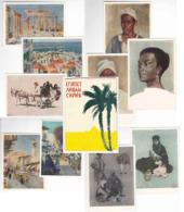 Série Complète De Morceaux De Livret Egypte Liban Syrie Peintures D'artistes Vereisko - Líbano
