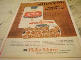 ANCIENNE PUBLICITE ENCORE MEILLEURES CIGARETTE PHILIP MORRIS 1961 - Tabac (objets Liés)