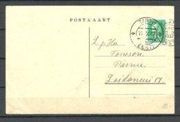 Estland Estonia 1937 Postkarte O Tartu Nach Pärnu Michel 114 As Single - Estland