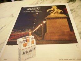 ANCIENNE   PUBLICITE TABACS DE FRANCE CIGARETTE MARIGNY  1961 - Other