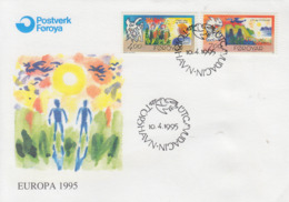 Enveloppe  FDC  1er  Jour   ILES  FEROE    EUROPA    1995 - Europa-CEPT