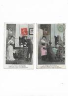 Cartes Anciennes De Série 2 Cartes  Le Galant Photographe - Fantaisies