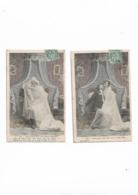 Cartes Anciennes De Série 2 Cartes  Les Mariés - Fantaisies