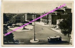 C115> Cartolina Di GINEVRA Genève - Viaggiata - Place Neuve - 1956 - Tram - GE Ginevra
