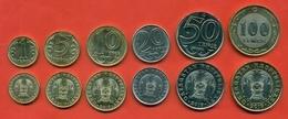Kazakhstan 2019.Set Of Coin Kazakhstan - 1, 5,10 And 20 Tenge Magnetic And 50 Tenge Non-magnetic And 100bimetallic. New. - Kazakhstan