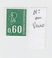 MARIANNE DE BEQUET  N° 1815b N° ROUGE 100 AU VERSO / 3802 - France