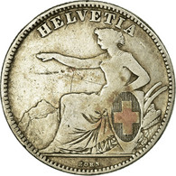 Monnaie, Suisse, 2 Francs, 1862, Bern, TB, Argent, KM:10a - Schweiz
