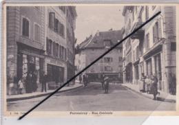 Suisse ; Porrentruy - Rue Centrale (Commerces ;Pharmacie Hubleur / Poix Dubail / Louis Dubail...) - JU Jura