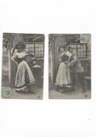 Cartes Anciennes De Série 2 Cartes  L'escrime Du Baiser - Fantaisies