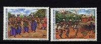 Rep. Benin ** N° 616/617 - Danses Traditionnelles - Benin - Dahomey (1960-...)