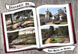 Souvenir De ... SAINT-MARTIN-en-VERCORS - Vues Multiples - Le Jardin - Eglise - Livre Ouvert - Frankrijk