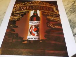 ANCIENNE PUBLICITE AMBASSADEUR  1978 - Alcohols