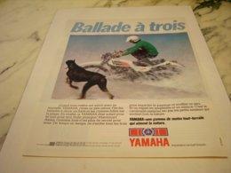 ANCIENNE PUBLICITE  BALLADE A 3 MOTO YAMAHA 1978 - Motor Bikes