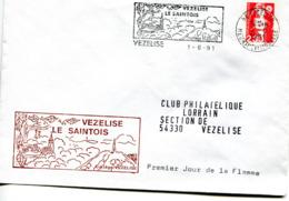 France - 1990-yt 2630 (Marianne Du Bicentenaire) Sur Lettre Club Philatélique Vezelise 54 - Frankreich