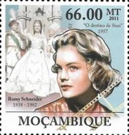 Mozambique Romy Schneider Sissi Cinema 1v Stamp MNH Michel:5423 - Célébrités