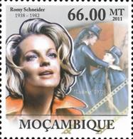 Mozambique Romy Schneider Ludwig Cinema 1v Stamp MNH Michel:5424 - Célébrités