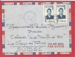 Y&T N° SAIGON Vers SUISSE 1952 - Vietnam