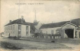 51 Marne :  Vauchamps L'église Et La Mairie      Réf 7347 - Francia