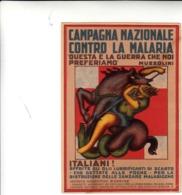 Campagna Nazionale Contro La Malaria, Cartolina Propagandistica Non Viaggiata Piega In Angolo - Salute