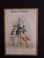 """Chromo """" Biscuit Pernot""""bébé Et Chat - Pernot"""