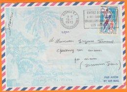 """Enveloppe Illustrée De NOUMEA R.P.  Le 18 1 1972 à 23F """" Jeux Du Pacifique Sud """" Pour 80 QUESNOY Sur SOMME - Lettres & Documents"""