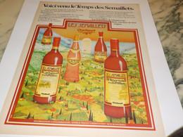 ANCIENNE PUBLICITE LES VINS LES SEMAILLETS DE CHANTOVENT  1978 - Alcohols