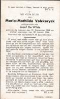 Lokeren, 1944, Maria Volckeryck, De Wilde - Images Religieuses