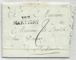 MARQUE CONQUIS 127 MARTIGNY 1812 LETTRE POUR ST MAURICE VALAIS COTE 450€ - 1792-1815: Conquered Departments