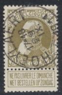 """Grosse Barbe - N°75 Obl Simple Cercle """"Hoeylaert"""" (T2 R) / COBA : 25 - 1905 Barbas Largas"""