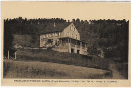 STOSSWIHR - RESTAURANT-PENSION SATTEL - VERS 1930 - France