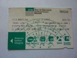 "Biglietto ""ATM Area De Barcelona TRAVEL CARD"" - Season Ticket"