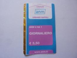 """Biglietto """"ANM URBANO NAPOLI GIORNALIERO"""" - Metro"""