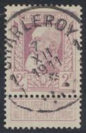 """Grosse Barbe - N°80 Obl Simple Cercle """"Charleroy 1J"""" + Croix De St André Dans Le Dateur. TB - 1905 Barbas Largas"""