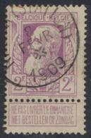 """Grosse Barbe - N°80 Obl Simple Cercle """"Namur (Station)"""" + Croix De St André Dans Le Dateur. TB - 1905 Thick Beard"""