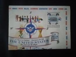 SOUVENIR ET CARTE DU PAVILLON DES ÉTATS -  UNIS À L EXPOSITION INTERNATIONALE DE BRUXELLES DE 1958 BELGIQUE - Planches & Plans Techniques