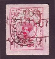India-Kishangarh State 2 Annas Court Fee/Revenue Type 25  #DF382 - Kishengarh