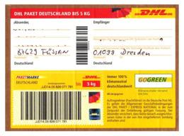 Bund / Germany: 'DHL-Paketmarke Bis 5 Kg - Hologramm, 2019' / 'DHL Stamp For A Parcel - Hologram', Oo - [7] Federal Republic
