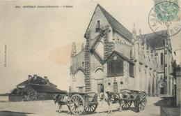 CPA 44 Loire Atlantique Inférieure Boussay L'Eglise Attelage Chevaux - Boussay