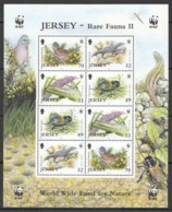 L1184 2004 JERSEY WWF FAUNA BIRDS INSECTS REPTILES RARE FAUNA II !!! MICHEL 16 EURO !!! 1SH MNH - W.W.F.