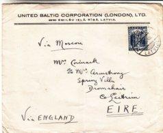 Lettonie - Lettre De 1940 ° - Oblit Riga - Exp Vers Dromahair En Irlande - Via Moscou Et La Grande Bretagne - Lettonie