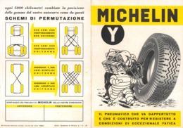 """08731 """"MICHELIN TIPO Y - IL PNEUMATICO CHE VA DAPPERTUTTO......"""" PIEGH. PUBBL. ORIG.. - Pubblicitari"""